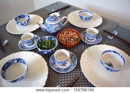 Dinner Table served in the Chinese style