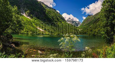 Caucasus, Lake Badukskoe.Shot on Badukskom Lake, the Caucasus