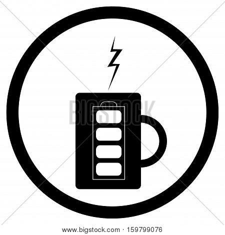 Energy mug with coffee or tea. Coffee mug and mug of tea vector illustration
