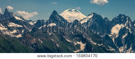 In the mountains of the Caucasus.Photographed in the Caucasus mountains