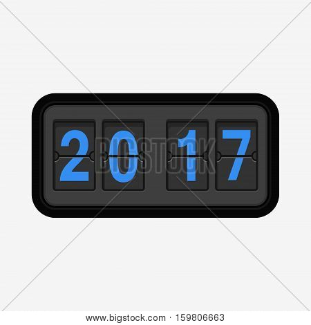 The New Year 2017 Counter Illustration.