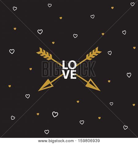 Vectror eps10 illustrations and typography elements.  Valentines day set. I love you vector icon. 14 february.