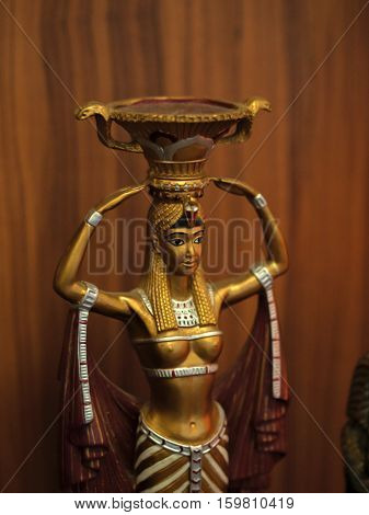EGYPTIAN TRADITIONAL CULTURE SOUVENIRS (Egyptian traditional culture souvenirs on showcase)