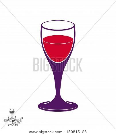 Holiday Classic Vector Goblet, Stylish Alcohol Theme Illustration. Lifestyle Graphic Design Element