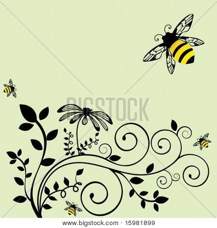 Bee with vine 2