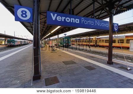 VERONA, ITALY- September 10 2016: Trains