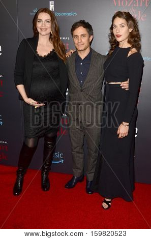 LOS ANGELES - DEC 1:  Saffron Burrows, Gael Garcia Bernal, Lola Kirke at the
