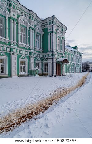 Municipal government building, built in the early 20th century in a provincial Russian town