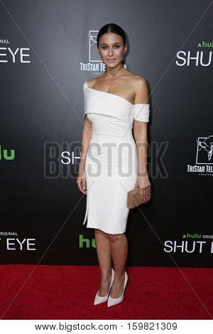 LOS ANGELES - DEC 1:  Emmanuelle Chriqui at the Premiere Of Hulu's