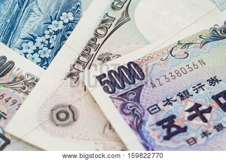 1000 And 5000 Japanese Currency Notes Background