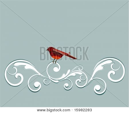 bird with flourish