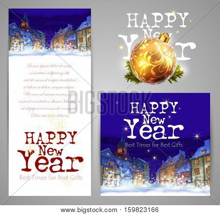 New Year card with space for your text