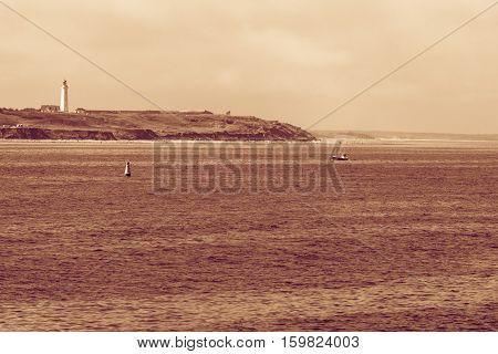 Coastline With Lighthouse Hirtshals Denmark