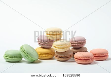 Sweet And Colourful French Macaroons, Pastel Color, French Cuisine