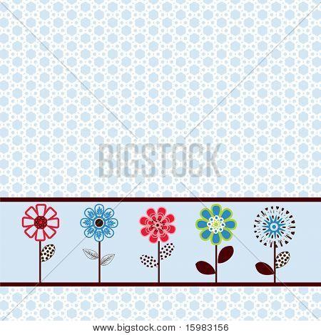 pretty spring flower paper / border