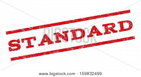 Standard watermark stamp. Text caption between parallel lines with grunge design style. Rubber seal stamp with dust texture. Vector red color ink imprint on a white background.