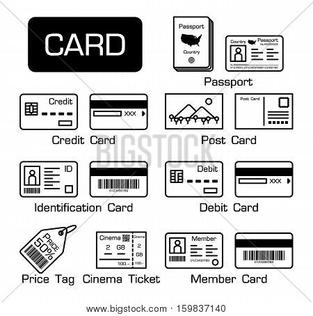 Set of electronic cards and other cards .