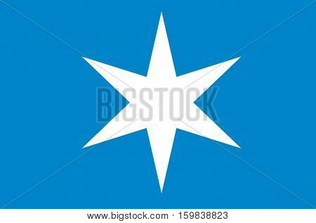 Flag of Steinkjer is a city and municipality in the Nord-Trondelag county Norway