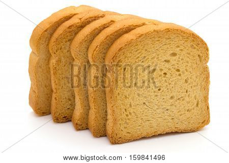 bread rusk isolated on a white background