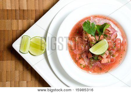 Ecuadorian food series: shrimp ceviche