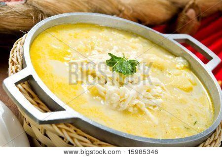 Ecuadorian food series: potato soup or