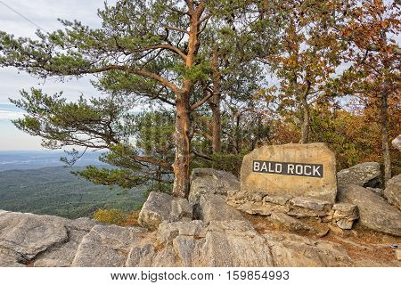 Bald Rock Overlook At Cheaha Mountain State Park In Alabama