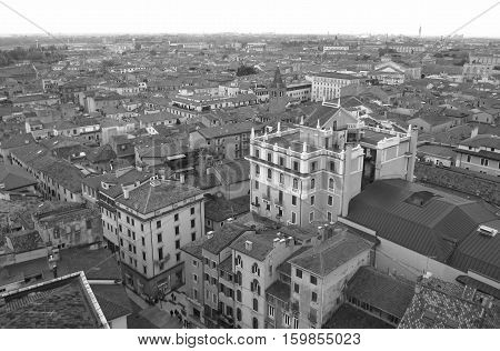 Monotone Picture, Beautiful Architectures of Verona Old Town in Northern Italy