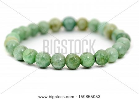 Chinese Jade bracelet isolated on white background