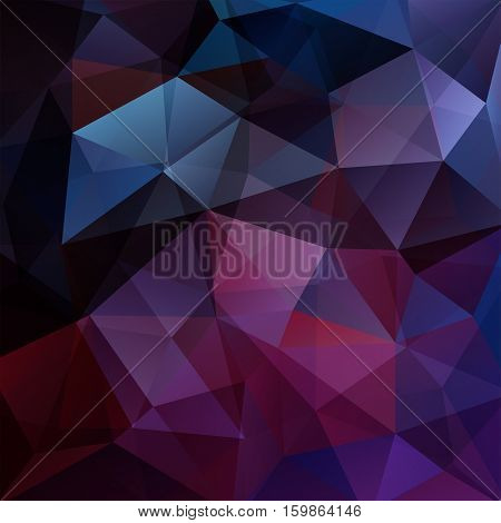 Abstract Geometric Style Purple Background. Vector Illustration. Dark Purple, Black, Blue Colors.