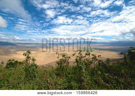 Ngorongoro Conservation Area, a protected area and a World Heritage Site located 180 km west of Arusha in the Crater Highlands area of Tanzania