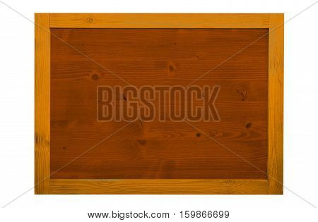 Wood frame for decorative text and image. Vintage color.
