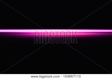 Horizontal pink neon blast beam illustration background hd