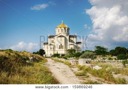 Cathedral of St. Vladimir Sevastopol. Chersonese. The object of the cultural heritage of UNESCO.