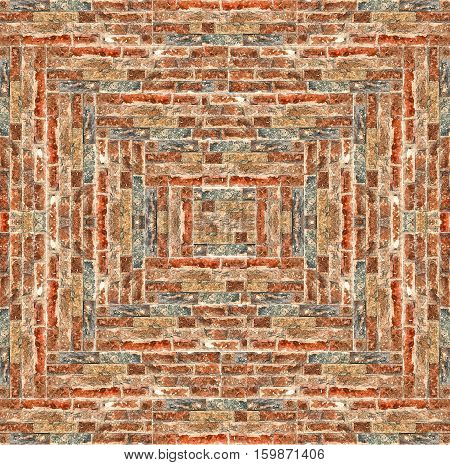 a natural background with the brick pattern
