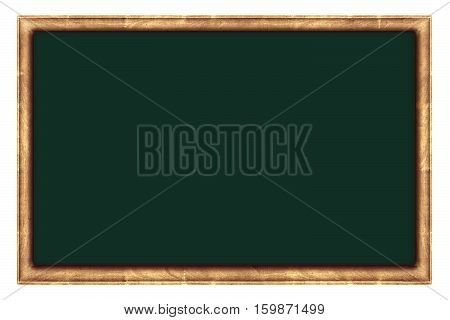 old blackboard or picture canvas, isolated on white