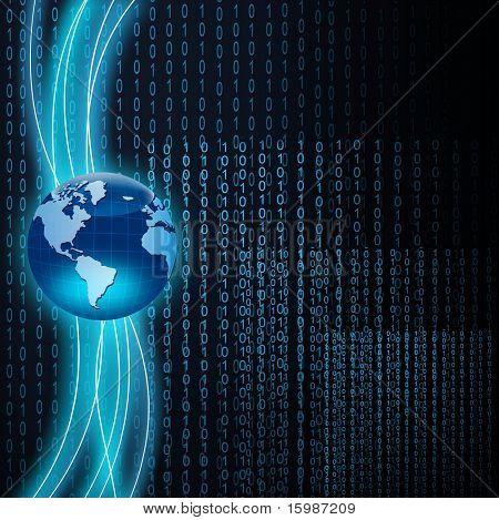 Technology binary background