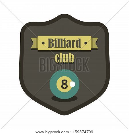 Retro vintage logo emblem billiard game. Billiard labels for you design banners infographics.