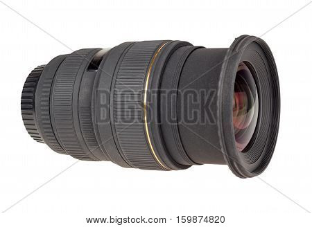 The Lens Of Modern Digital Camera, Side View.