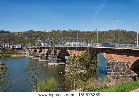 Bridge over the river Moselle near Trier