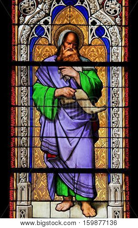 Stained Glass - The Prophet Isaiah.