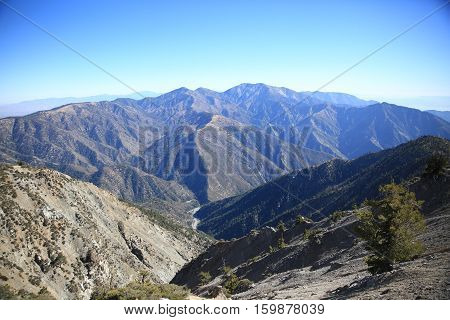The view at the peak of Mt. Baden-Powell.