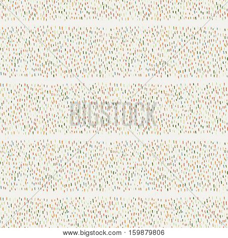 Seamless pattern of abstract strokes and dots. Vector background.