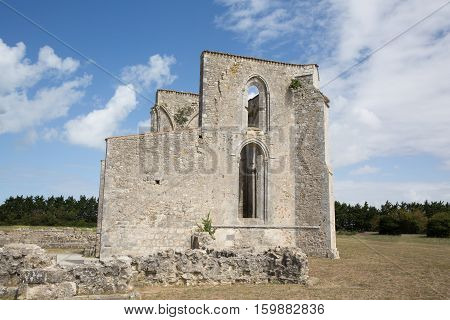 In Summer Day Picture Of Ruins Chuch In Island