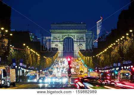 Arc de Triomphe de l'Etoile in Paris France