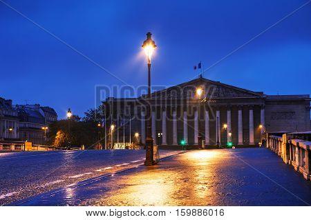Assemblee Nationale in Paris France at surise
