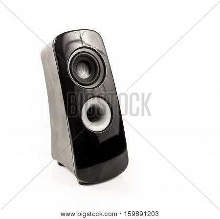 Modern Black and Grey Speaker on white background