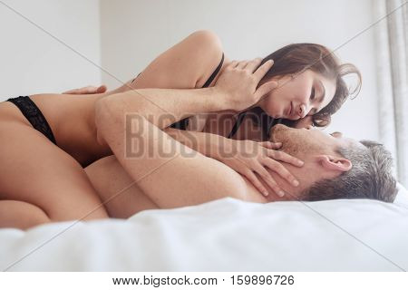 Beautiful Passionate Couple Having Sex On Bed