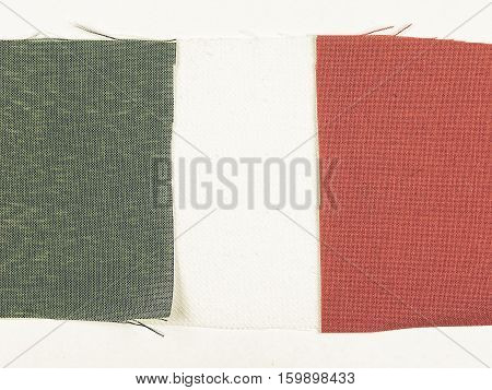 Vintage Looking Flag Of Italy