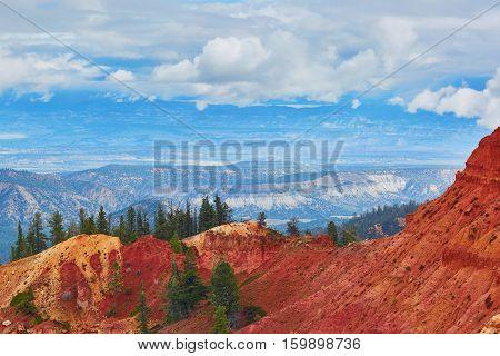 Red Sandstone Hoodoos In Bryce Canyon National Park In Utah, Usa