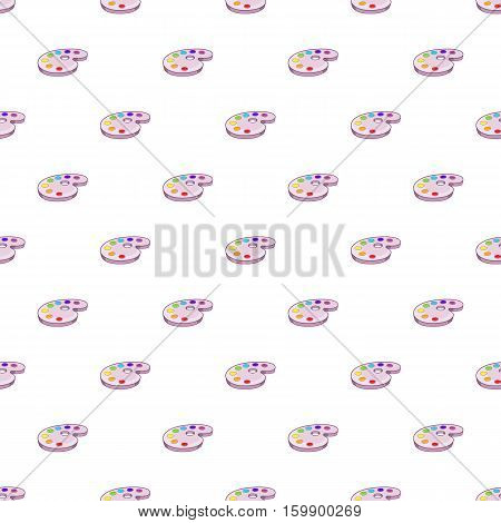 Palette of colors pattern. Cartoon illustration of palette of colors vector pattern for web